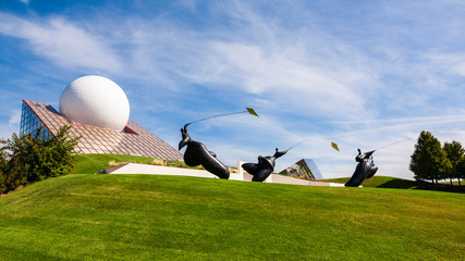 Futuroscope theme park in Poitiers, France
