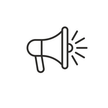 loudspeaker megaphone line black icon
