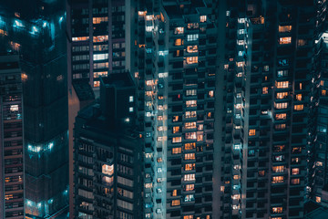 Fototapete - Hong Kong building and architecture at night