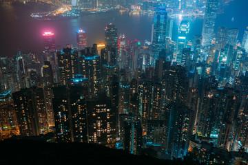 Hong Kong building and architecture at night