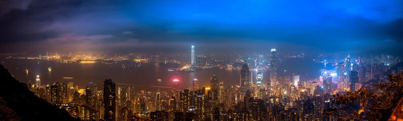 Hong Kong landscape at night