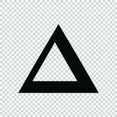 symbol delta icon flat vector illustration