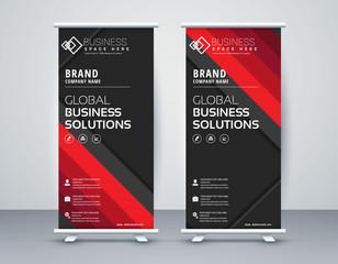 Business Roll Up. Standee Design. Banner Template Modern Minimal. Presentation and Brochure. Vector illustration - Vector