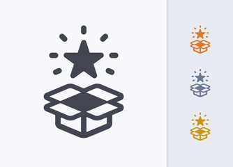 Unboxed Star - Pastel Stencyl Icons