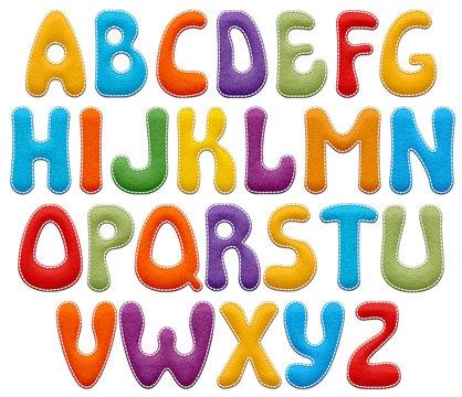 Colorful Felt Stitched Alphabet Letters