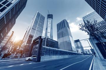 Financial district skyscraper
