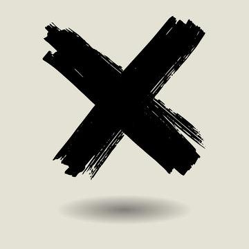 black x mark texture background