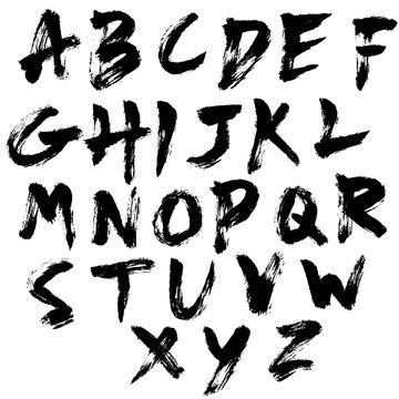 dry brush texture font set