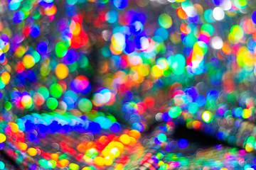 fun color festive round bokeh