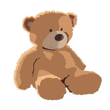 teddy bear vector illustration isolated