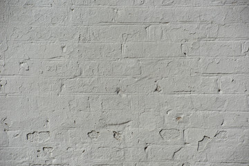 Surface of a white brick wall