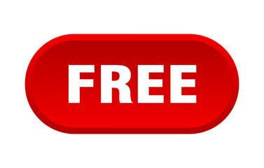 free button. free rounded red sign. free Wall mural