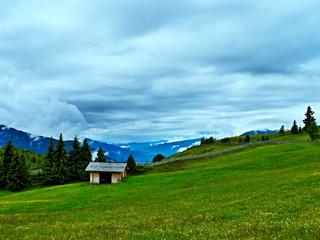 Italian Alps-view on the mountain plateau Rodengo