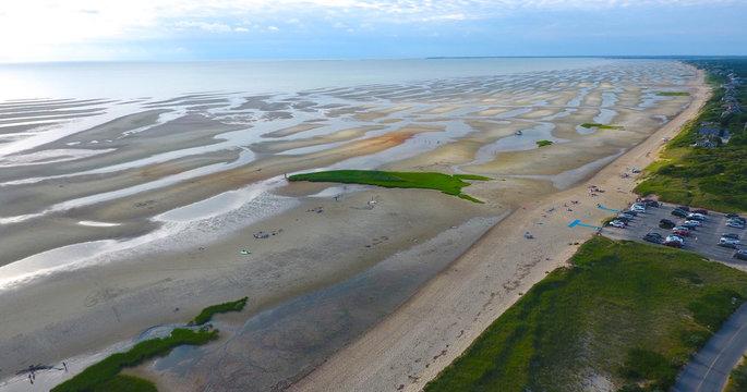 Cape Cod Bay Flats Aerial