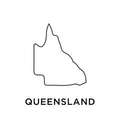 Fototapeta Queensland map vector design template obraz