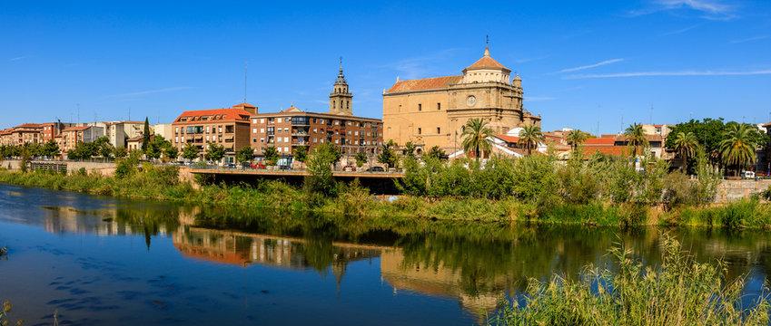 The Tajo River as it passes through Talavera de la Reina, Toledo, Spain