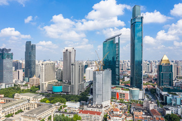 Foto op Canvas Oceanië city skyline in shanghai china