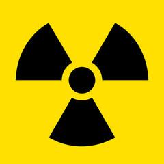 radioactive contamination sign vector illustration