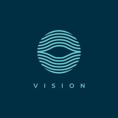 Abstract eye symbol logo design vector template