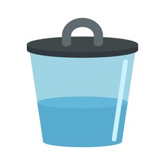 Water zika pot icon. Flat illustration of water zika pot vector icon for web design