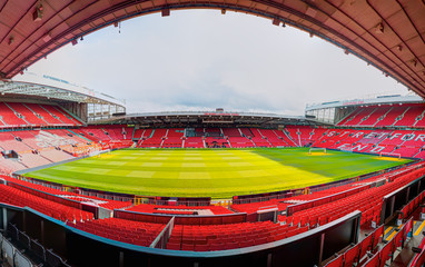 MANCHESTER, ENGLAND - SEPTEMBER 28, 2019: The Old Trafford stadium . Old Trafford is home of Manchester United Club
