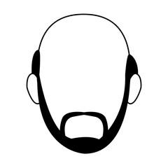 avatar man with beard icon, flat design
