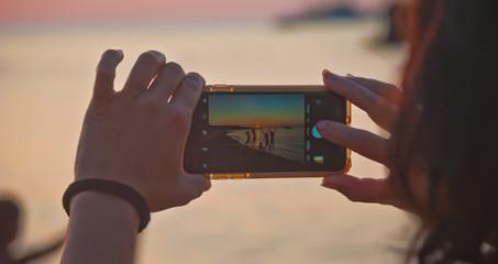 Fotografiando el final del verano con un teléfono móvil
