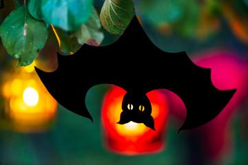 Papier Fledermaus, Halloween