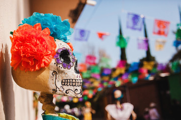 Mexican Catrina for Dia de los Muertos , displayed during Day of the Dead celebration in Mexico