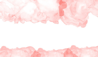 Orange pastel watercolor background. Abstract illustration wallpaper for template website, banner social media business advertising. simple art style.