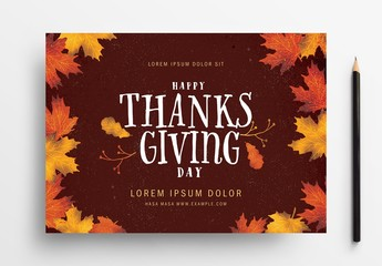 Thanksgiving Illustrative Flyer Layout