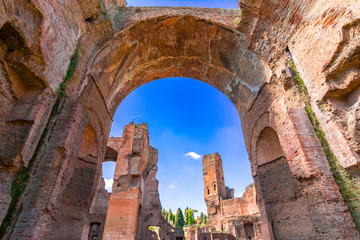 Terme di Caracalla ot The Baths of Caracalla in Rome, Italy