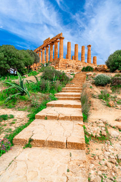 Agrigento, Sicily island, Italy: The Temple of Juno in the Valley of the Temple, Agrigento southern Italy