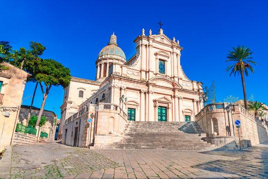 Comiso, Sicily island, Italy: The Neoclassicist Church of the Annunziata,16th century