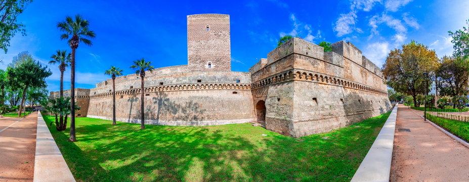 Bari, Italy, Puglia: Swabian castle or Castello Svevo, also called Castello Normanno, Apulia