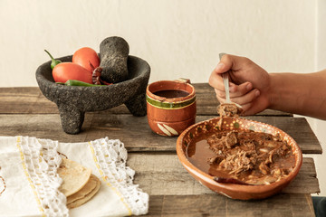 Wall Mural - Plate of birria