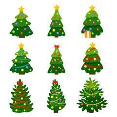 Different Christmas tree set