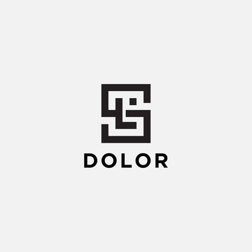 Logo design for companies, Inspiration from the initial letters SL logo icon. - Vector