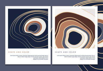 Abstract Flyer Layouts with Abstract Topographic Pattern
