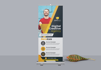 Corporate Roll Up Banner Layout