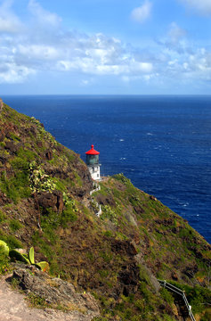 Bluff trail view of Makapuu Lighthouse