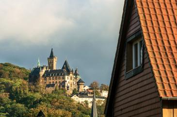 Castle of Wernigerode (Harz/Germany) in Autumn