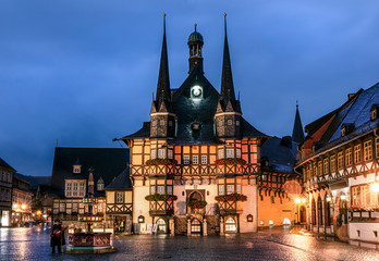 Town Hall of Wernigerode (Germany/Harz) at Night