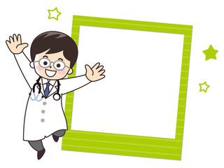 医者の男性 写真フレーム