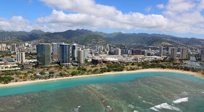 Ala Moana beach, Oahu, Hawaii