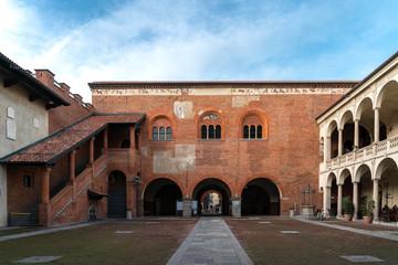 Novara city, Piedmont, Italy. HISTORIC PALACES IN NOVARA CITY IN ITALY IN EUROOPE