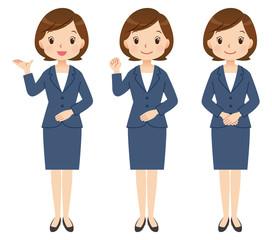 案内する女性 ビジネス