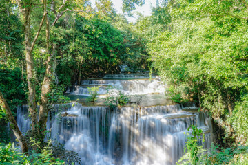 Printed roller blinds Waterfalls waterfall in rainforest at National Park, Thailand.