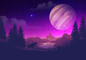 Canvas Prints Violet The Purple World