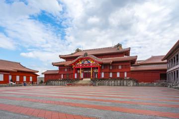 Wall Mural - Main Hall of Shuri Castle in Okinawa, Japan
